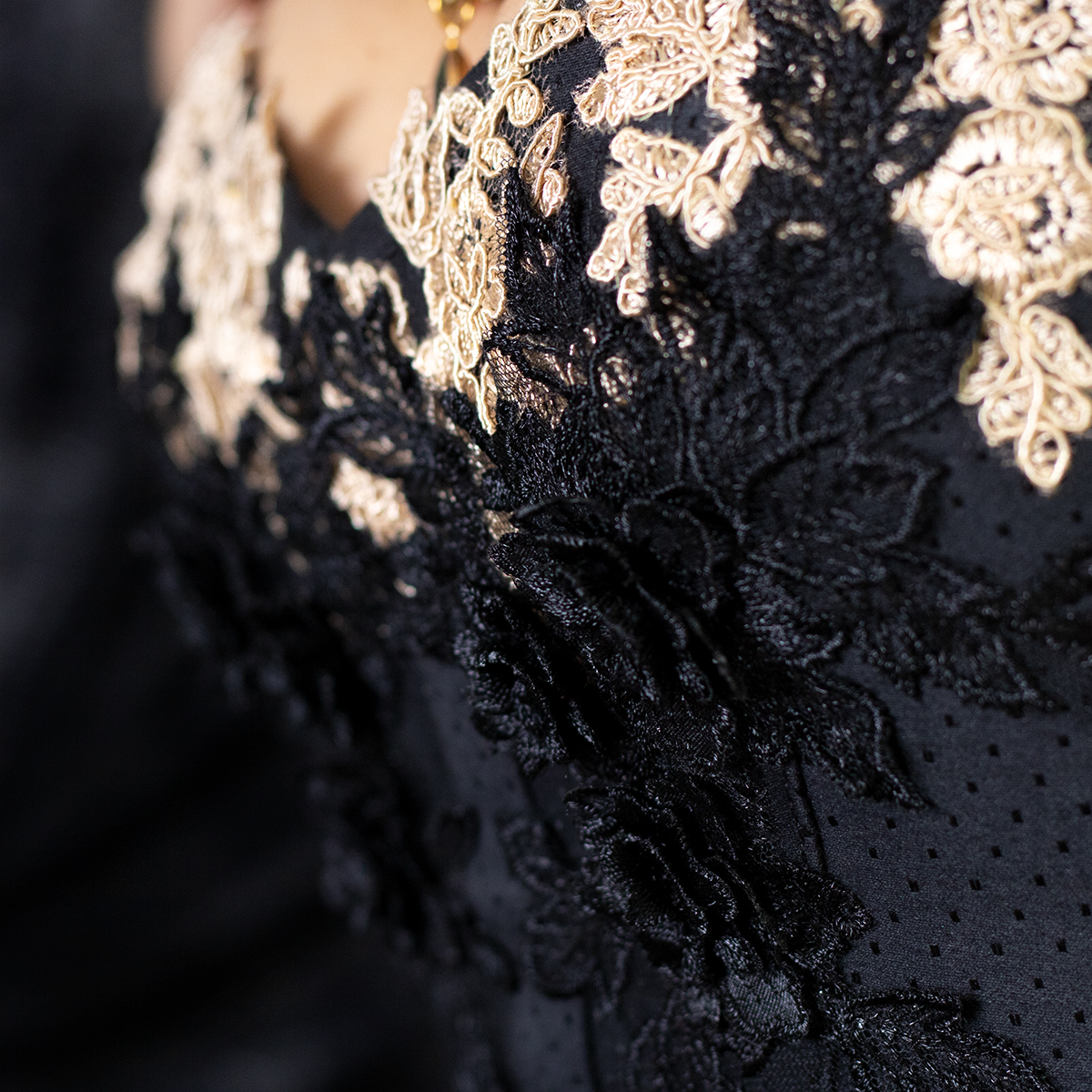 Corset détail, goth black rococo