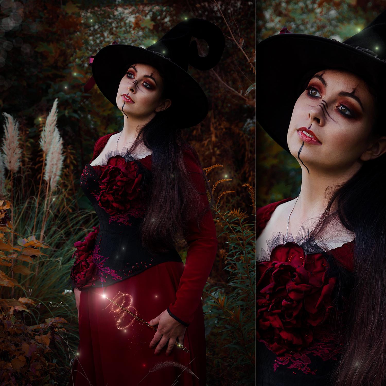 Halloween sorcière witch corset dress